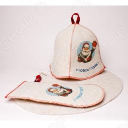 купить Набор для бани подарочный «Дед Мороз»  - заказ и доставка в Москве, Санкт-Петербурге, городах России и СНГ