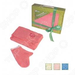 купить Комплект махровый Банные штучки для женщин с вышивкой. В ассортименте Банные штучки - заказ и доставка в Москве, Санкт-Петербурге, городах России и СНГ